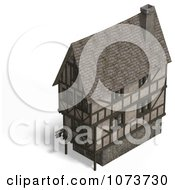 Clipart 3d Large Medieval House 7 Royalty Free CGI Illustration by Ralf61