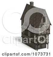 Clipart 3d Large Medieval House 8 Royalty Free CGI Illustration by Ralf61