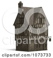 Clipart 3d Large Medieval House 10 Royalty Free CGI Illustration by Ralf61