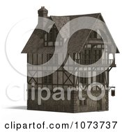 Clipart 3d Large Medieval House 14 Royalty Free CGI Illustration by Ralf61