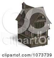 Clipart 3d Large Medieval House 16 Royalty Free CGI Illustration by Ralf61