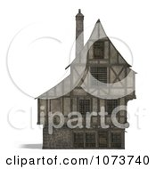 Clipart 3d Large Medieval House 17 Royalty Free CGI Illustration by Ralf61