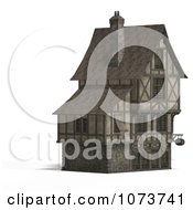 Clipart 3d Large Medieval House 18 Royalty Free CGI Illustration by Ralf61