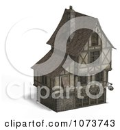 Clipart 3d Large Medieval House 20 Royalty Free CGI Illustration by Ralf61