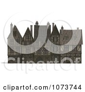 Clipart 3d Large Medieval Mansion 1 Royalty Free CGI Illustration by Ralf61
