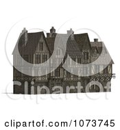 Clipart 3d Large Medieval Mansion 2 Royalty Free CGI Illustration by Ralf61