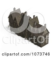 Clipart 3d Large Medieval Mansion 3 Royalty Free CGI Illustration by Ralf61