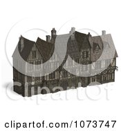 Clipart 3d Large Medieval Mansion 4 Royalty Free CGI Illustration by Ralf61