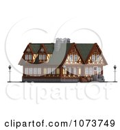 Clipart 3d Medieval Building 2 Royalty Free CGI Illustration by Ralf61