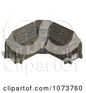 Clipart 3d Medieval Stable Building 2 Royalty Free CGI Illustration by Ralf61