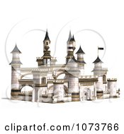 Clipart 3d Medieval White Palace 2 Royalty Free CGI Illustration by Ralf61