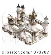 Clipart 3d Medieval White Palace 3 Royalty Free CGI Illustration by Ralf61