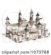 Clipart 3d Medieval White Palace 4 Royalty Free CGI Illustration by Ralf61