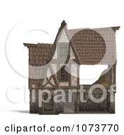 Clipart 3d Medieval Barn Building 1 Royalty Free CGI Illustration by Ralf61