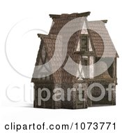Clipart 3d Medieval Barn Building 2 Royalty Free CGI Illustration by Ralf61