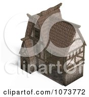 Clipart 3d Medieval Barn Building 3 Royalty Free CGI Illustration by Ralf61