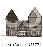 Clipart 3d Medieval Gate Building 1 Royalty Free CGI Illustration by Ralf61