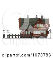 Clipart 3d Medieval Restaurant Building 1 Royalty Free CGI Illustration by Ralf61