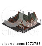 Clipart 3d Medieval Restaurant Building 3 Royalty Free CGI Illustration by Ralf61