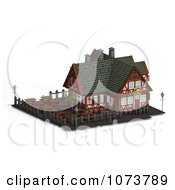 Clipart 3d Medieval Restaurant Building 4 Royalty Free CGI Illustration by Ralf61