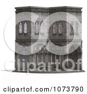 Clipart 3d Medieval Cloister Building 1 Royalty Free CGI Illustration by Ralf61