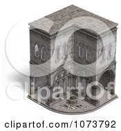 Clipart 3d Medieval Cloister Building 3 Royalty Free CGI Illustration by Ralf61