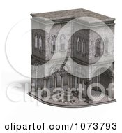 Clipart 3d Medieval Cloister Building 4 Royalty Free CGI Illustration by Ralf61