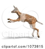 Clipart 3d Baby Yearling Deer Fawn Running 1 Royalty Free CGI Illustration