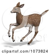 Clipart 3d Baby Yearling Deer Fawn Running 2 Royalty Free CGI Illustration
