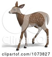 Clipart 3d Baby Yearling Deer Fawn 4 Royalty Free CGI Illustration