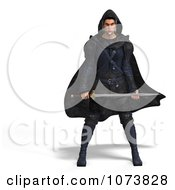 Clipart 3d Medieval Super Hero With A Sword 4 Royalty Free CGI Illustration by Ralf61