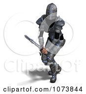 Clipart 3d Female Knight Using Her Sword Royalty Free CGI Illustration by Ralf61