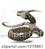 3d Fanged Fantasy Snake 1