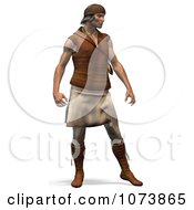 Clipart 3d Apache Native American Indian Man Standing Royalty Free CGI Illustration