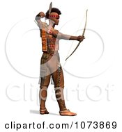 Clipart 3d Native American Indian Man Archer 1 Royalty Free CGI Illustration