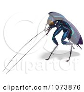 Clipart 3d Purple Waterbug Cockroach Insect 2 Royalty Free CGI Illustration