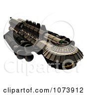 Clipart 3d Spaceship UFO 1 Royalty Free CGI Illustration