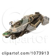 Clipart 3d Spaceship UFO 2 Royalty Free CGI Illustration