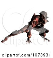 Clipart 3d Fighting Alien 1 Royalty Free CGI Illustration by Ralf61