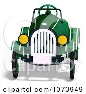 Clipart 3d Vintage Convertible Green Car 1 Royalty Free CGI Illustration