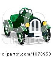 Clipart 3d Vintage Convertible Green Car 2 Royalty Free CGI Illustration
