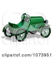 Clipart 3d Vintage Convertible Green Car 3 Royalty Free CGI Illustration