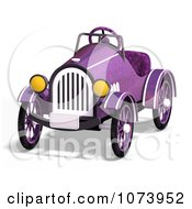 Clipart 3d Vintage Convertible Purple Car 1 Royalty Free CGI Illustration