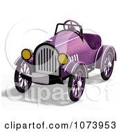 Clipart 3d Vintage Convertible Purple Car 2 Royalty Free CGI Illustration