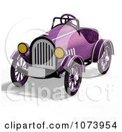 Clipart 3d Vintage Convertible Purple Car 3 Royalty Free CGI Illustration