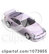 Clipart 3d White Sports Car With A Spoiler Royalty Free CGI Illustration by Ralf61