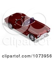 Clipart 3d Red Vintage Convertible Car Royalty Free CGI Illustration