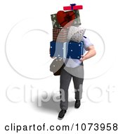 Clipart 3d Postal Mail Man Delivering Gifts Royalty Free CGI Illustration by Ralf61