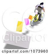 Clipart 3d Postal Mail Man Dropping Letters On A Bike Royalty Free CGI Illustration by Ralf61