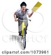 Clipart 3d Postal Mail Man Delivering A Letter On A Bike Royalty Free CGI Illustration by Ralf61
